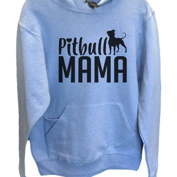 UNISEX HOODIE - Pitbull Mama - FUNNY MENS AND WOMENS HOODED SWEATSHIRTS - 2180