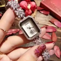 CHANEL Fashion Diamonds Quartz Movement Wristwatch Watch