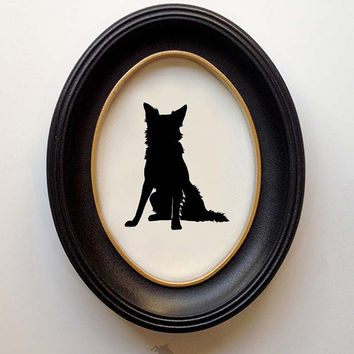 Border Collie Silhouette - Hand-cut Original Dog Art Design:BDC02