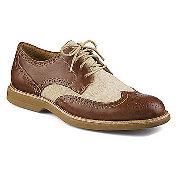 Sperry Men's Bellingham Wingtip Oxfords - Tan/Ivory