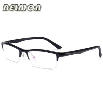 Eyeglasses AL-MG Spectacle Frame Men Nerd Computer Optical Clear Lens Glasses Frame For Male Transparent Armacao Oculos de RS130