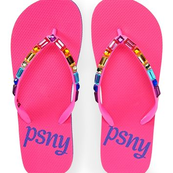 PS from Aero Girls Jeweled Flip-Flops - Pink,