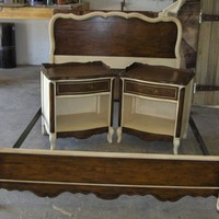 Full bedroom set with two night stands by ReKindledbySaltCreek