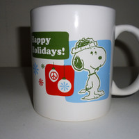 Peanuts Snoopy Christmas Happy Holidays Coffee Mug