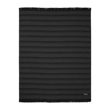 Wave Black Beach Towel