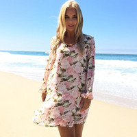 Blossom Crush Floral Shift Dress