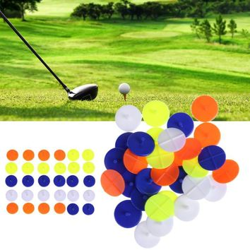 30pcs/pack Mixed color Golf Ball Maker Golf Training Accessories Simple Magnetic Ball Maker Golf Ball Marking Tools