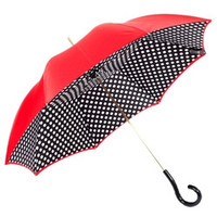 Pasotti Red B/W Polka Dots Umbrella