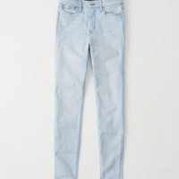 Womens High Rise Super Skinny Jeans | Womens Bottoms | Abercrombie.com