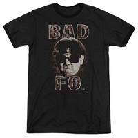 Three Stooges Bad Moe Fo Black Ringer T-Shirt