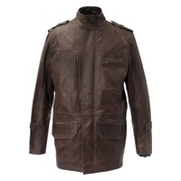 Etna Mens Leather Jacket - Super Sale