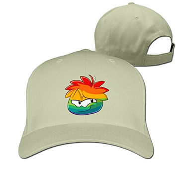 ZULA Vintage Unisex-Adult Rainbow Game Role Travel Caps Hat Natural