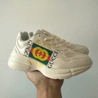"""""""Gucci"""" Unisex Casual Fashion Classic Letter Print Thick Bottom Sneakers Couple Running Shoes"""
