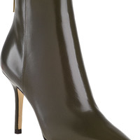 Jimmy Choo Amore Ankle Boot Military Green Leather - Jildor Shoes, Since 1949