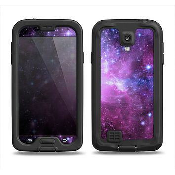 The Purple Space Neon Explosion Samsung Galaxy S4 LifeProof Fre Case Skin Set
