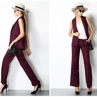 womens vest,waistcoat,minimalist style,high fashion,elegant,for summer.--E0180