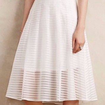 Anthropologie Shadow Stripe Midi Skirt Sz 2, 4 and 10 - By Leifsdottir - NWT