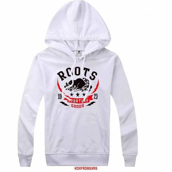 Roots Women Men Casual Long Sleeve Top Sweater Hoodie Pullover Sweatshirt