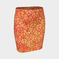 Autumn foliage Fitted Skirt Fitted Skirt