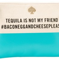 Kate Spade New York Call To Action-Gia  Clutch,Tequilla Is Not My Friend,One Size