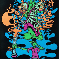 Choke Attack Black Light Poster