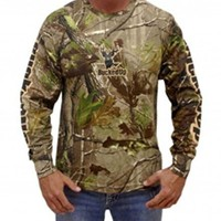 Bucked up L/s CAMO TAN BLACK Logo Buck Shirt Unisex camouflage