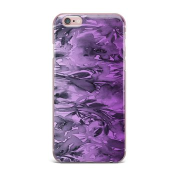 "Ebi Emporium ""Forever Flowers, Purple Ombre"" Purple Gray Watercolor iPhone Case"