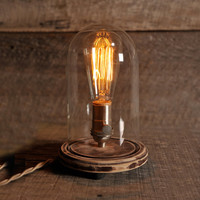 The Original Bell Jar Table Lamp, Includes EDISON bulb, FREE SHIPPING