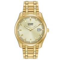Men's Citizen Eco-Drive Classic Gold Tone Stainless Steel Watch