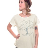 NEW! Peaceful Tree Short Sleeve Slouch Top