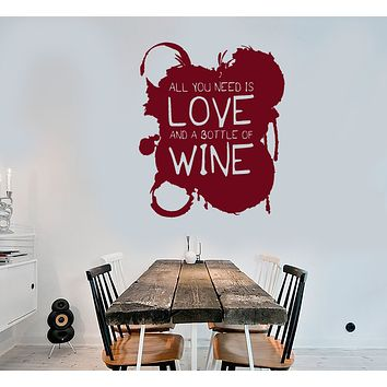 Vinyl Wall Decal Funny Quote For Kitchen Wine Shop Stickers (3447ig)