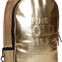 The Brick Backpack in Gold