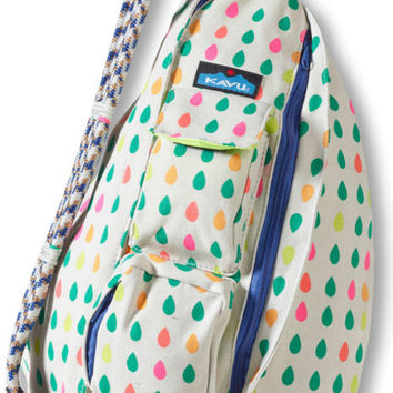 "Kavu Women's NEW ""Rope Bag"" SPRING DROPS Multi Dot Backpack Cross Body Purse Bag"