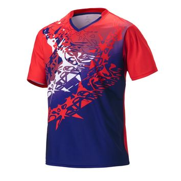 Men's badminton shirt 2018 sports tennis shirts blank badminton t shirt men soccer running jerseys clothing team badminton shirt