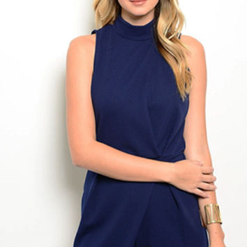 Perfectly Tailored Navy Romper