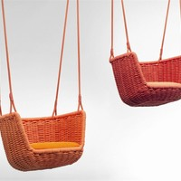 Garden suspended chair ADAGIO Aqua Collection by Paola Lenti | design Francesco Rota
