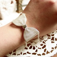 Pretense large mesh bow bracelets by shopjmp