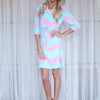 Perfect Match Chevron Tie Dress