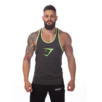 GymShark Fit Stringer - Grey Marl/Neon | GymShark International | Innovation In Fitness Wear