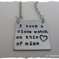 Johnny Cash Inspired - Hand Stamped Necklace