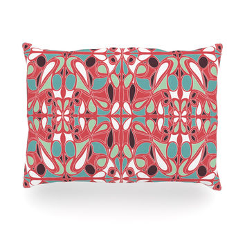 "Miranda Mol ""Stained Glass Pink"" Oblong Pillow"