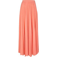 Coral pleated maxi skirt - maxi skirts - skirts - women