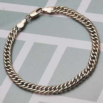 Gold Layered Men Basic Bracelet, by Folks Jewelry