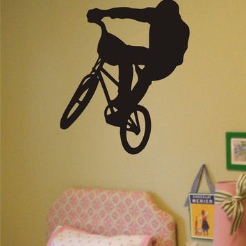 BMX Biker Version 1 Design Sports Decal Sticker Wall Vinyl