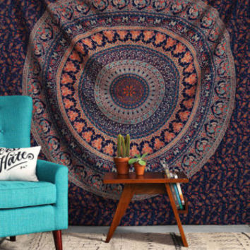 Queen Size Indian Tapestries Hanging Hippie Mandala Bohemian Wall Tapestry Boho