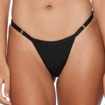 Beach Bunny Farrah Black Eyelash Lace Tango Bikini Bottom Swim Separate