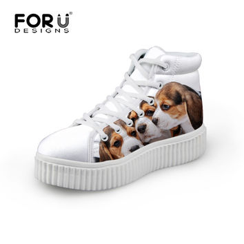 Casual Women Platform Shoes Brand Animal Bulldog Creepers Shoes White Woman Female Walking Shoes Zapatillas Deportivas Mujer