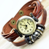Vintage Handmade Skull Wraps Watch