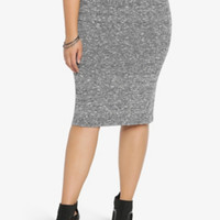 Marled Sweater Midi Skirt