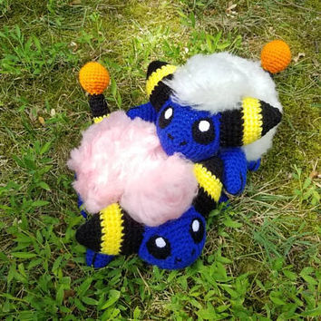 Pokemon Inspired: Mareep Amigurumi  (Crochet Plushie/Plush Toy) in normal or shiny coloring - MADE TO ORDER!